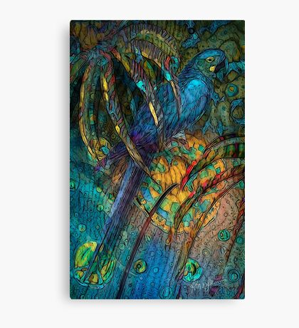 Light Filled, Sun Chilled, Blue Parrot by Alma Lee Canvas Print