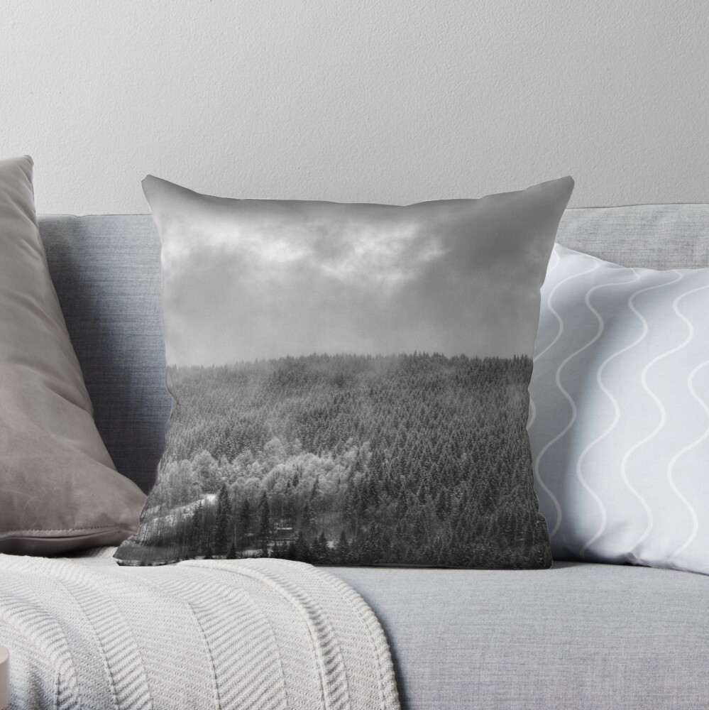 Mist #2 Throw Pillow