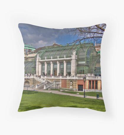Palmenhaus - Burggarten Throw Pillow
