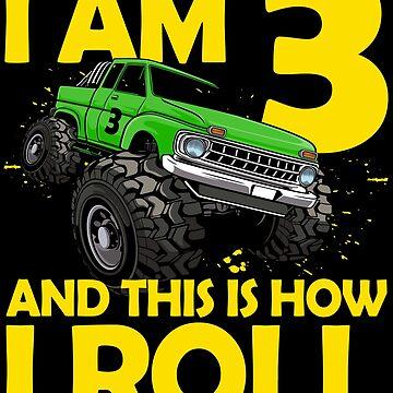3. Geburtstag Geschenk 3 Jahre Monster Truck von leroygomez