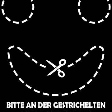 Fun Humor Shirt Bitte ausschneiden Geschenk von leroygomez