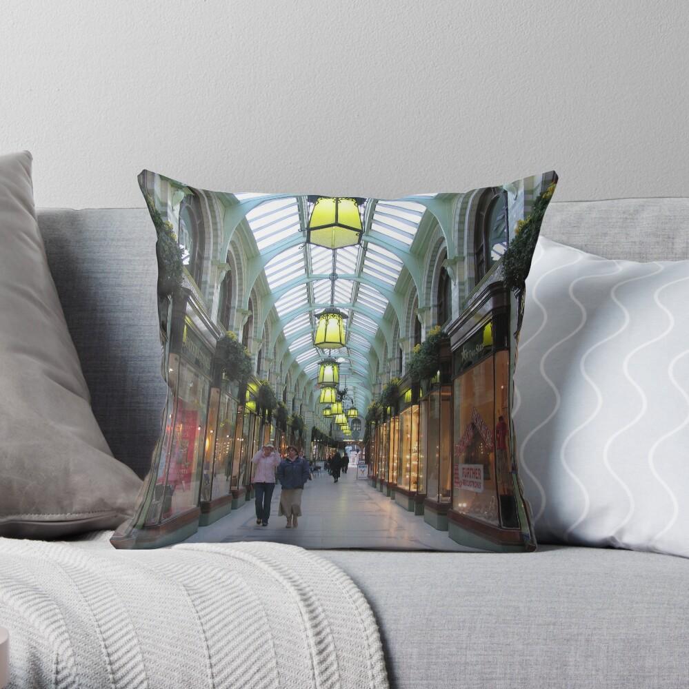 Royal Arcade, Norwich Throw Pillow