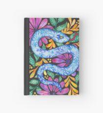 Snake on Black Hardcover Journal
