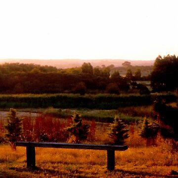 Autumn Haze - Landscape Photograph by coastscapes