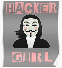 Hacker Mask Posters Redbubble
