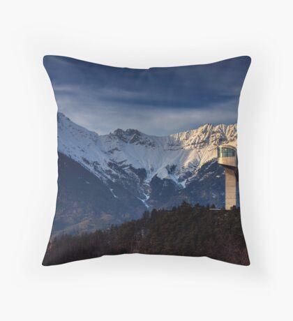 Mountain Architecture Throw Pillow