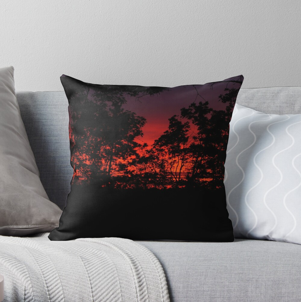 Another Day Begins Throw Pillow