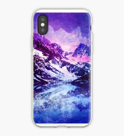 Abstract Snowy Mountains iPhone Case