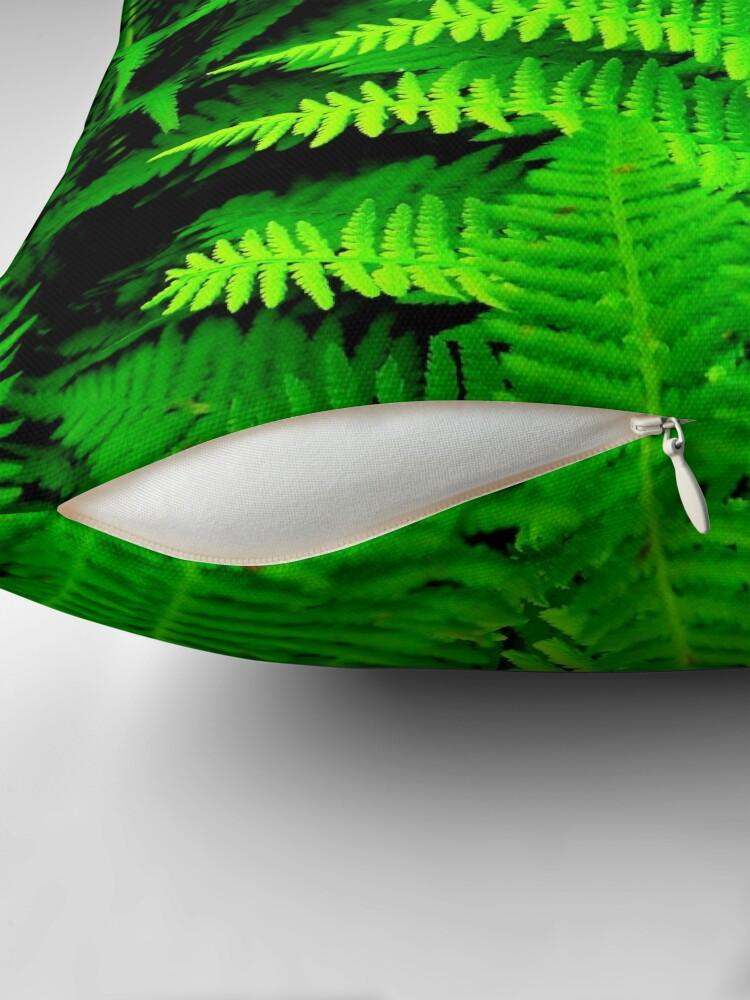 Alternate view of Wild Ferns Throw Pillow