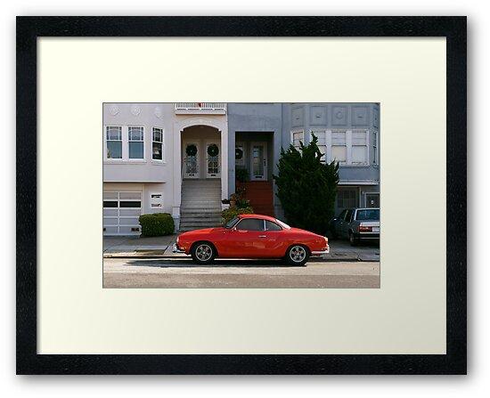 Red Karmann Ghia by Sam Scholes