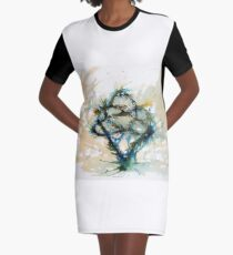 Our entwined hearts Graphic T-Shirt Dress