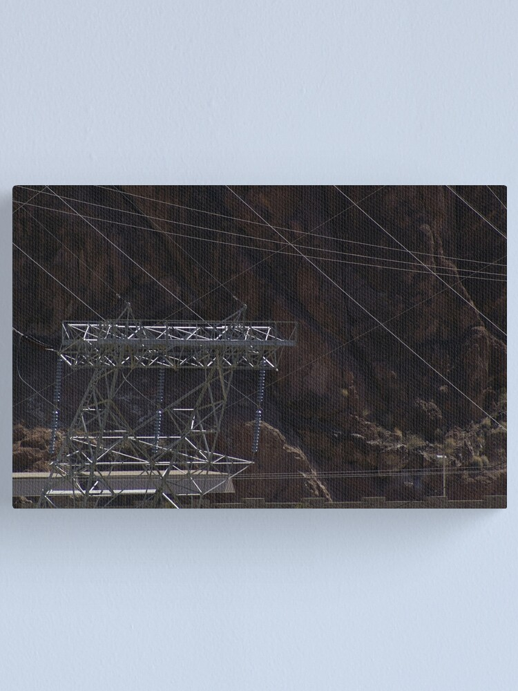 Alternate view of Hoover Dam Electricity Canvas Print