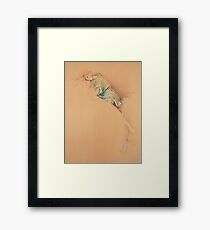 """Far Away"" in Colour Pencil Framed Print"