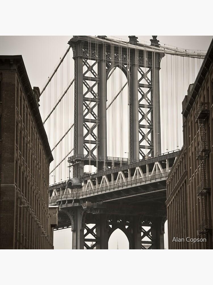 Empire State Building through arch of Manhattan Bridge by AlanCopson