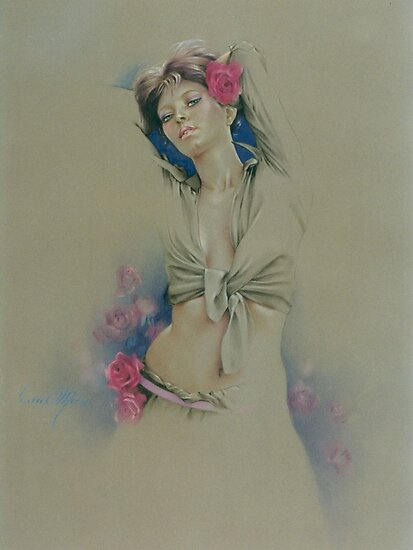 """""""Rose"""" in Colour Pencil by Sara Moon"""