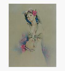 """Rose"" in Colour Pencil Photographic Print"