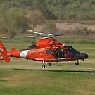 US CG 6570 Helicopter at AHAS 2015 Los Angeles by chibiphoto