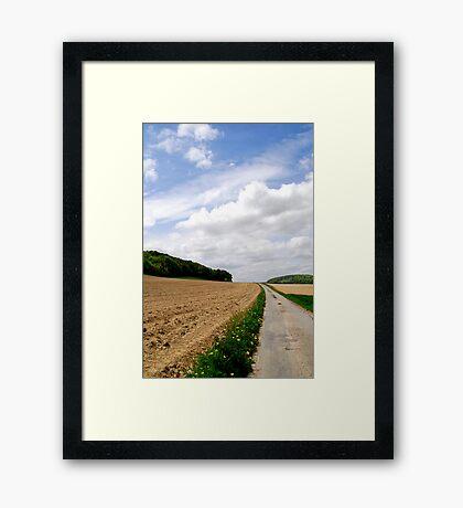 The fields of Vieux Rouen sur Bresle, France Framed Print