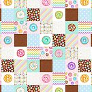 Rainbow Donuts Patchwork Quilt pattern by Hazel Fisher