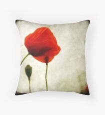 Le Coquelicot Throw Pillow