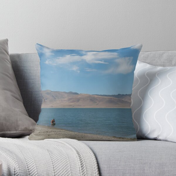 Mining for Serenity Throw Pillow