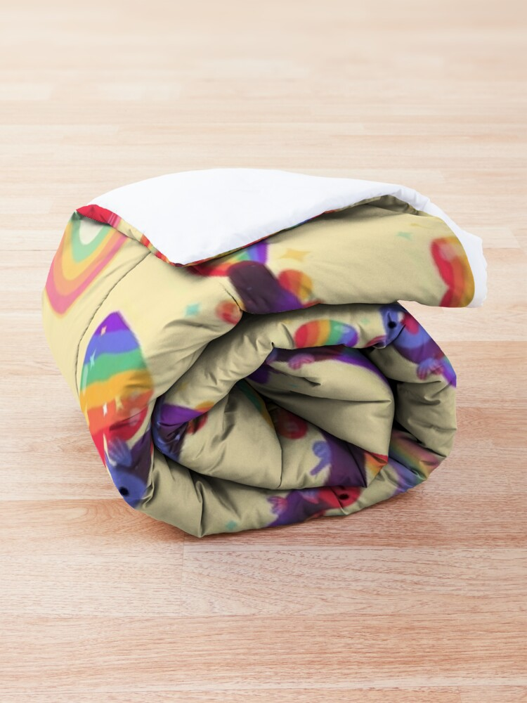 Alternate view of Rainbow guppy 5 Comforter
