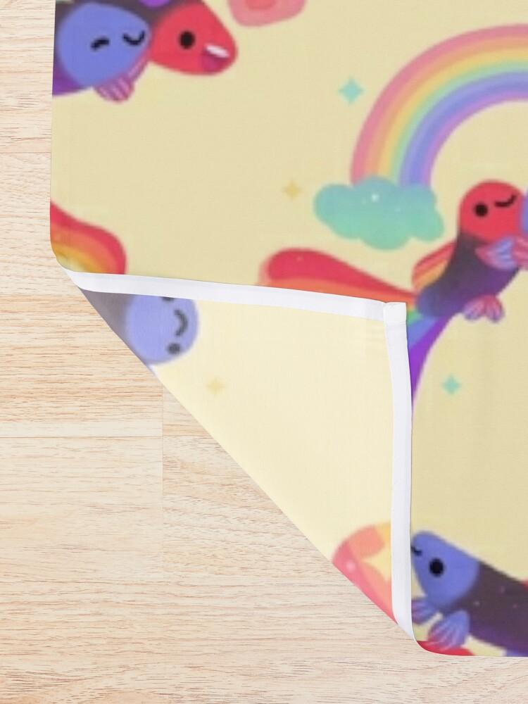 Alternate view of Rainbow guppy 5 Shower Curtain