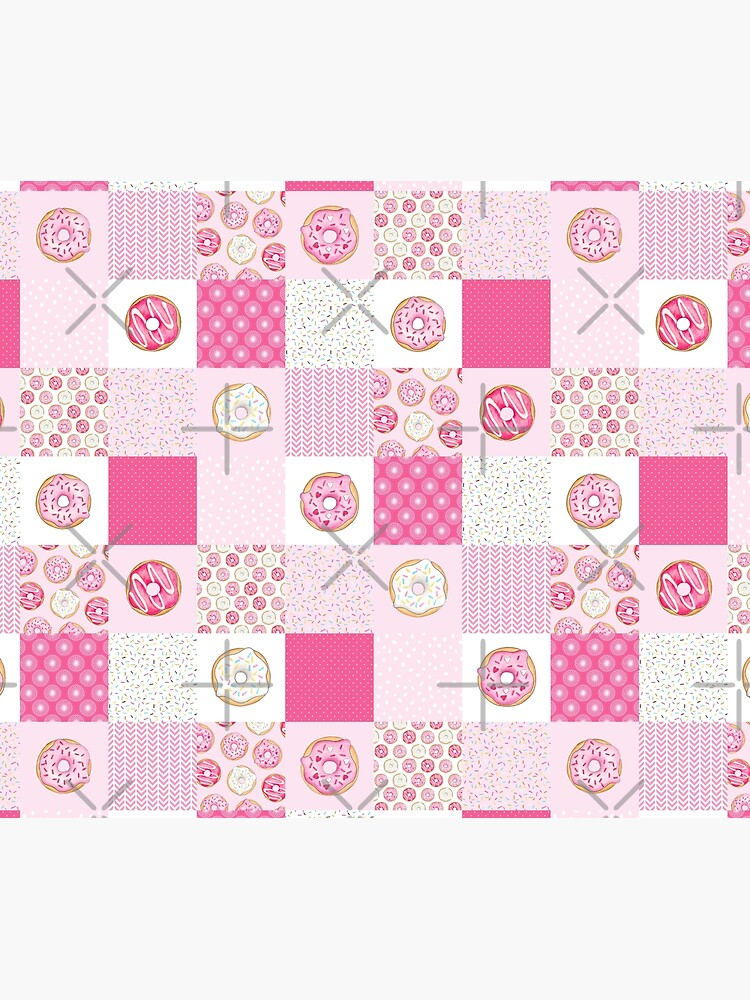Pink Donuts Patchwork Quilt pattern by HazelFisher