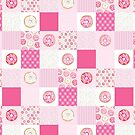 Pink Donuts Patchwork Quilt pattern by Hazel Fisher