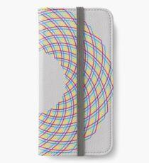 Kreisform, bunt iPhone Flip-Case/Hülle/Skin