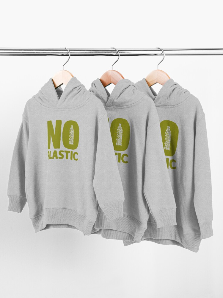 Alternate view of No plastic Toddler Pullover Hoodie