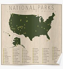 US-Nationalparks Poster