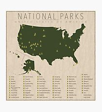 US-Nationalparks Fotodruck