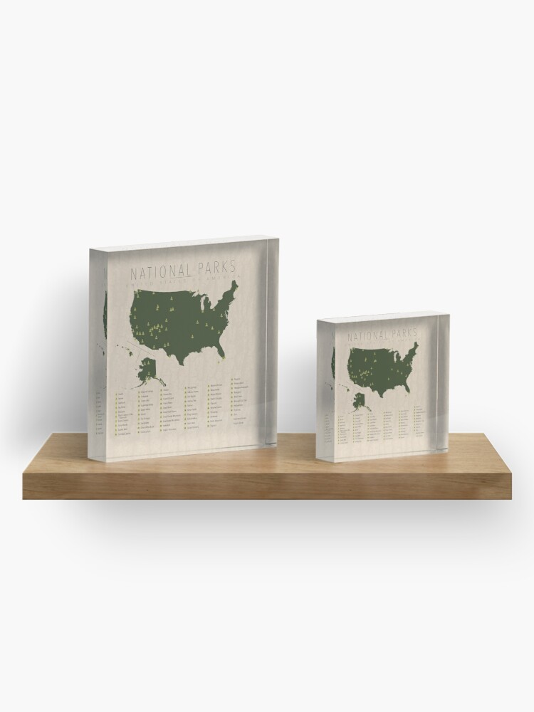 Alternate view of US National Parks Acrylic Block