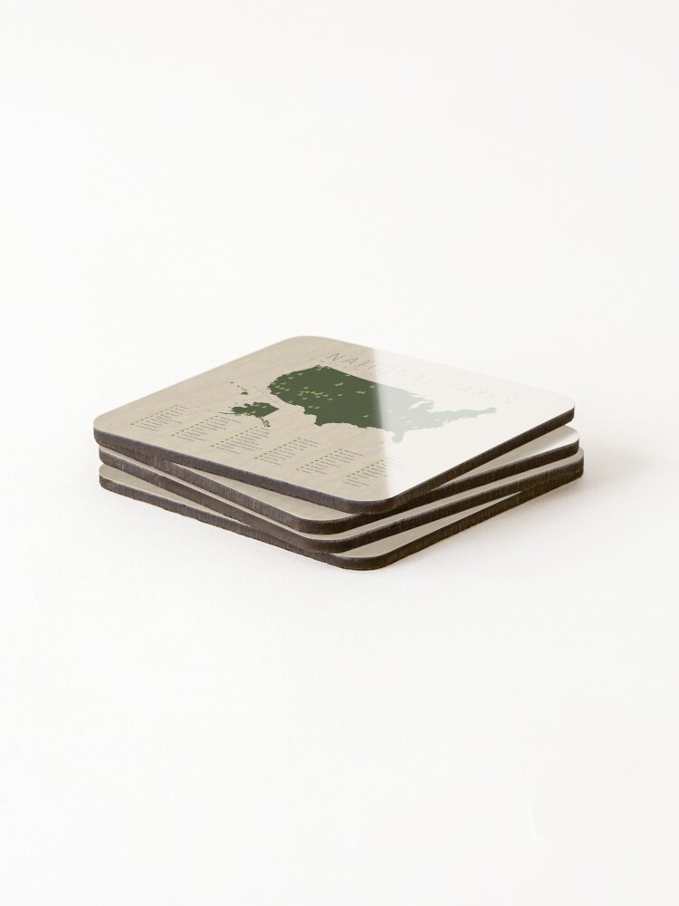 Alternate view of US National Parks Coasters (Set of 4)