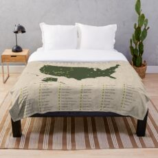 US National Parks Throw Blanket