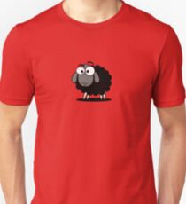 Black Sheep Cartoon Funny T-Shirt Sticker Duvet Cover Unisex T-Shirt