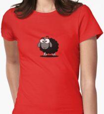 Black Sheep Cartoon Funny T-Shirt Sticker Duvet Cover Womens Fitted T-Shirt