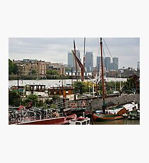 Downings Roads Moorings, Thames, London Photographic Print
