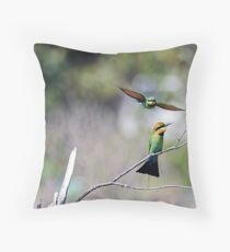 Merops ornatus II Throw Pillow