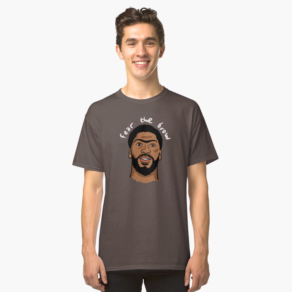 """Anthony Davis """"Fear The Brow"""" Classic T-Shirt"""