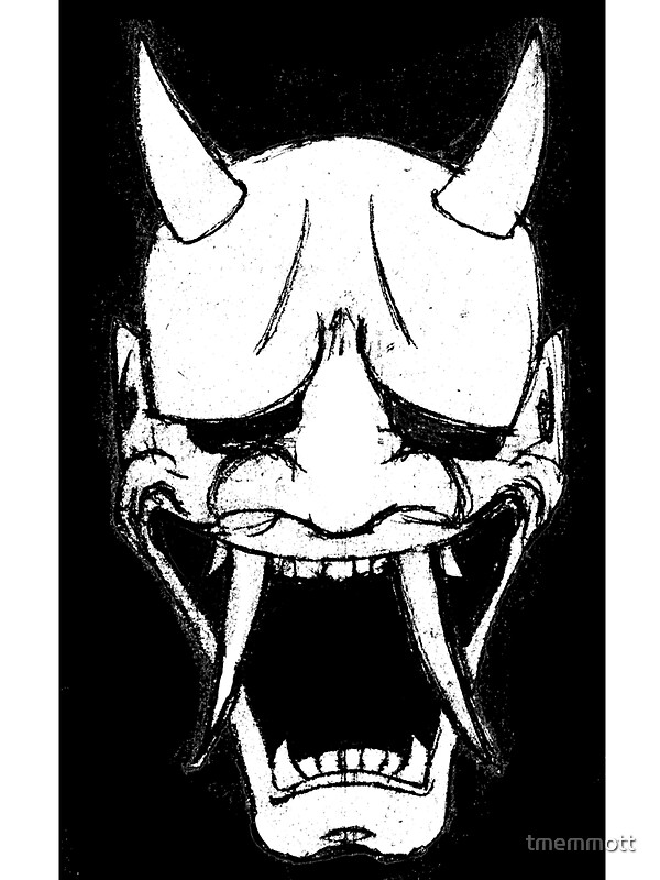 Hannya mask sticker by tmemmott