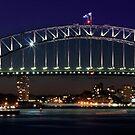 Sydney Opera House and Bridge Evening by bradlentz-photo