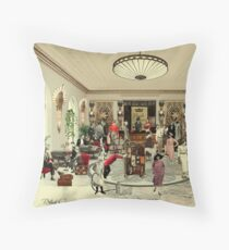 Black Crown Hotel Throw Pillow