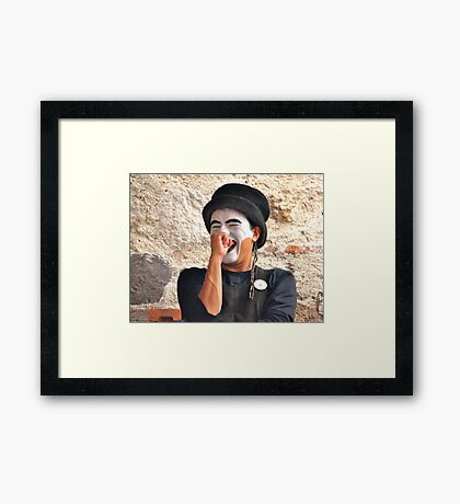 Laughing Mime Framed Print