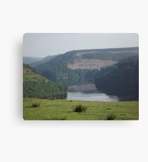 A lake in the Welsh hills Canvas Print