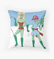 Naughty and Nice Throw Pillow