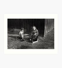 Childhood In Black And White Art Print