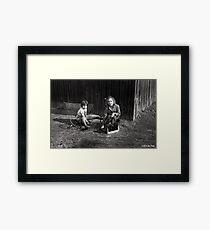 Childhood In Black And White Framed Print