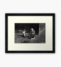 Childhood In Black And White Framed Print